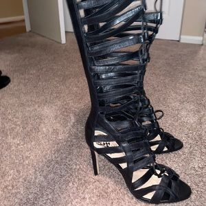 Vince Camuto Shoes - Vince Camuto strappy lace up boot/heels.